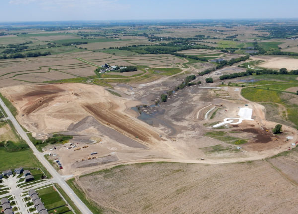 Dam Site 15A, under construction, is among a long list of critical flood protection projects to protect lives and property in the Omaha metro area